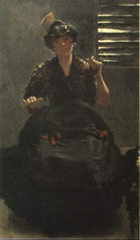 woman with castanets by william turner dannat