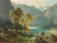 am obersee in den berchtesgadener alpen by ludwig sckell