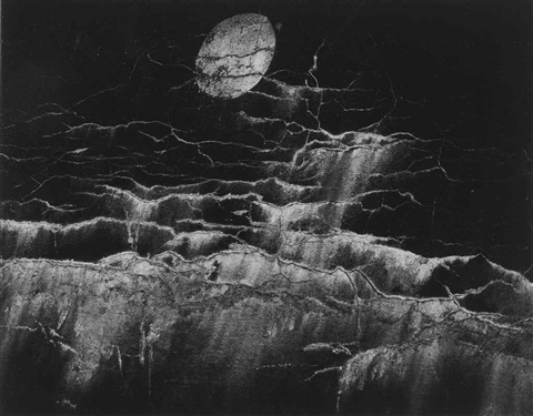 moon and wall encrustations by minor white