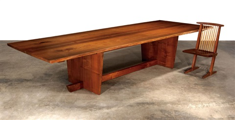minguren ii dining table by mira nakashima yarnall