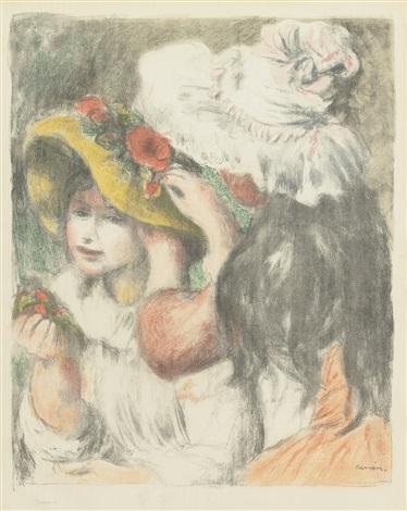 le chapeau épinglé 2e planche by pierre auguste renoir