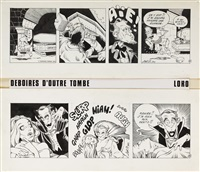déboires d'outre-tombe, strip 4 (+ strip 5; 2 works) by jean-marc laureau