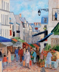 le marché mouffetard by jacques camus
