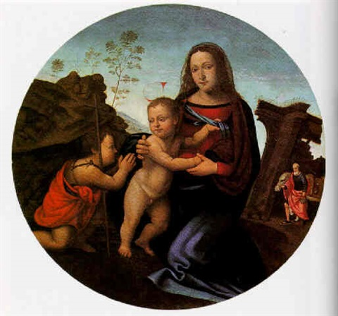 the madonna and child with the infant st john the baptist by giuliano bugiardini