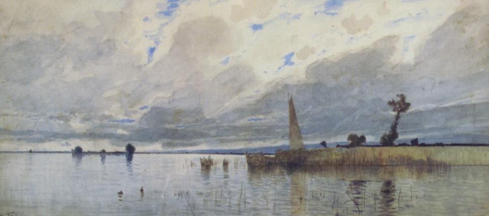 chiemsee segelschiff by eduard fischer