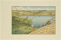 le trieux à kermarie, pl.15 (from le beau pays de bretagne) by henri rivière