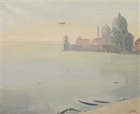 veduta di san giorgio a venezia by virgilio guidi