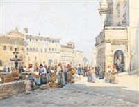 market scene by robert weir allan
