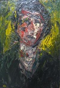 portrait et pintade (+ 7 others, various sizes; 8 works) by michel aubert