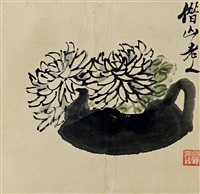 chrysanthemums by qi baishi