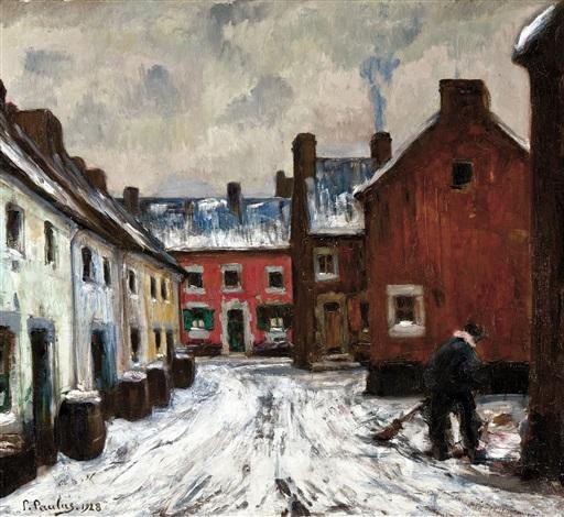 la maison rouge le balayeur de neige by pierre paulus