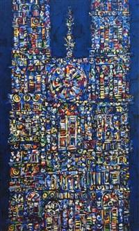 catedral en azul by rené portocarrero