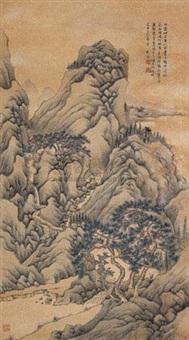 秋山雨霁 (landscape) by liu chen