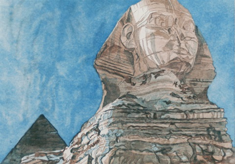 the sphinx by philip pearlstein