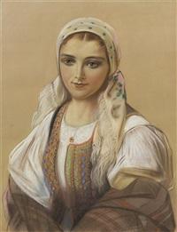 portrait of a lady, piekna sofia by piotr stachiewicz