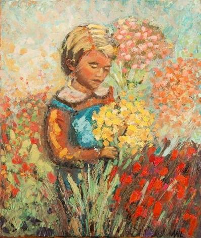 enfant aux fleurs by clélia avril