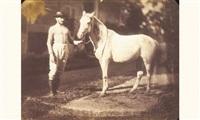 homme tenant un cheval par la bride by jean baptiste frénet