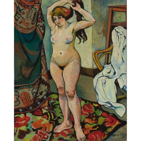 gilbert nue se coiffant by suzanne valadon