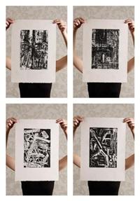 ensemble de quatre eaux-fortes extraites du portfolio de america (set of 4) by emilio vedova