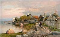 fishermen's village in haapsalu by yuliy yulevich (julius) klever