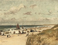 a sunny day on the beach of zandvoort by ernst hildebrand