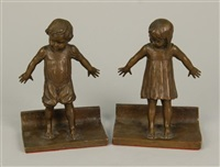 hide and seek (a pair of bookends) by abastenia st. leger eberle