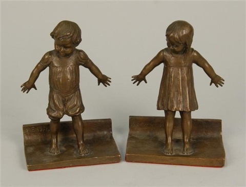 hide and seek a pair of bookends by abastenia st leger eberle