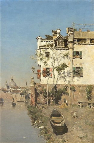 canal view venice by martin rico y ortega