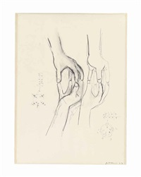 untitled (study for hands-sculpture) by bruce nauman
