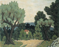 rural scene by georges ascher