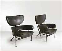 coppia di poltrone pl19 (pair) by franca helg and franco albini