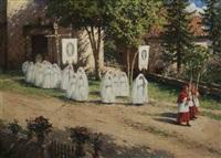 scène de communion solennelle aux adrets by jean-célestin-tancrède bastet