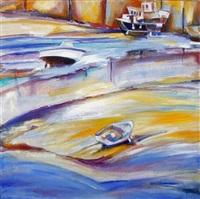 port à marée basse by brigitte morillon