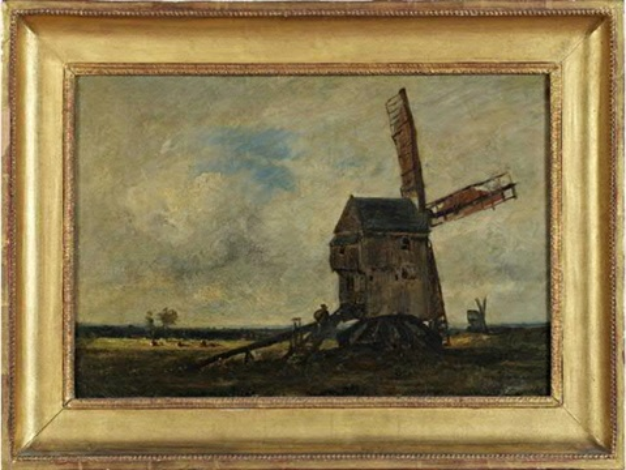 paysage aux deux moulins by jules dupré