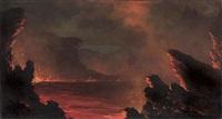 kilauea volcano by jules tavernier