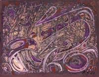 abstraktion in lila by hannah höch