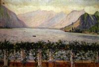 le lac d'annecy vu depuis la pergola, villa d'andré-charles coppier by georgette agutte