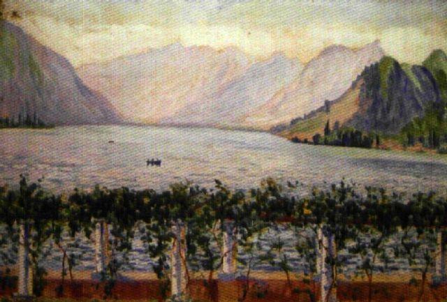 le lac dannecy vu depuis la pergola villa dandré charles coppier by georgette agutte