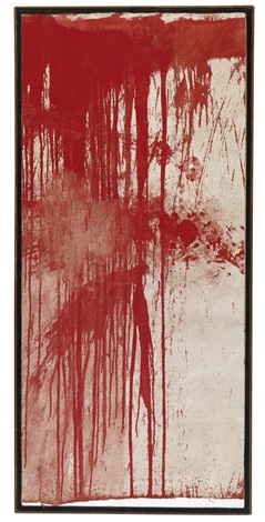 schüttbild aktionsrelikt by hermann nitsch