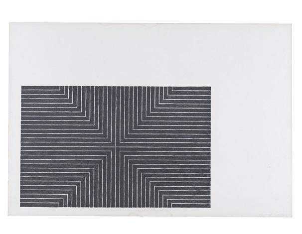 arbeit macht frei (from black series i) by frank stella