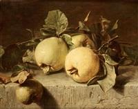 stilleben med äpplen by adriana johanna haanen