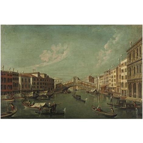 venezia lisola della giudecca con la chiesa del redentore il ponte di rialto con la riva del vin pair by francesco tironi