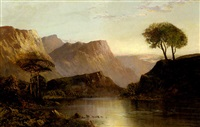 oberlauf des hudson river bei sonnenaufgang by theodore william richards