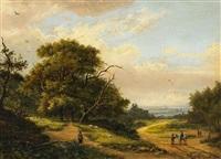 holländische landschaft by frans arnold breuhaus de groot