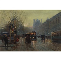 munich street scene on a winter's night by o. l. tessier