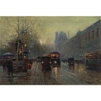 munich street scene on a winter's night by o. l. tessier