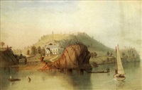 harbor scenes (2 works) by joseph w. pierce