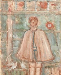 young boy in a cloak by henri heraut