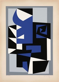 sian bleu by victor vasarely