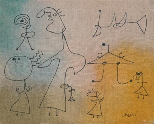 femmes et oiseaux by joan miró